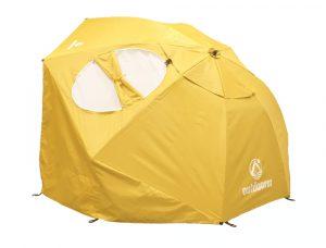 Strandmuschel Schirm Sombrello gelb
