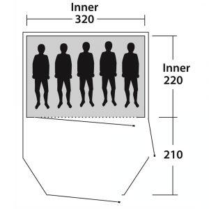 Familienzelt-5-Personen