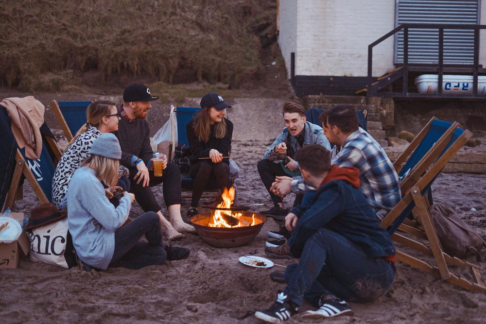 Am Campingplatz beim Backpacking mit Zelt