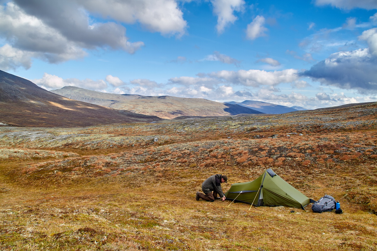 Ultraleichtzelt Trek Escape beim Wildcampen