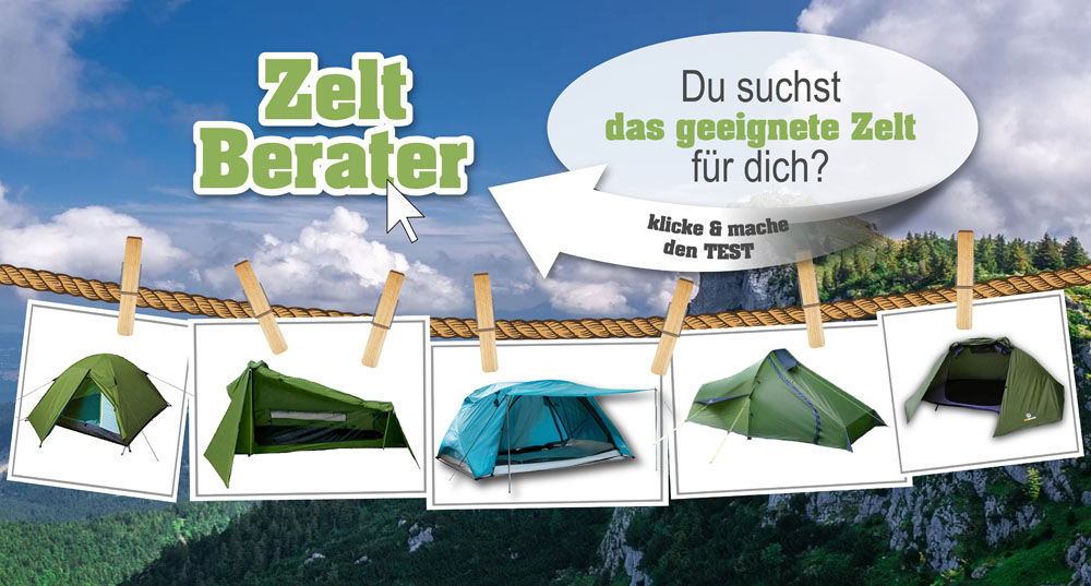 Zelt Vergleich mit dem Zelt Berater
