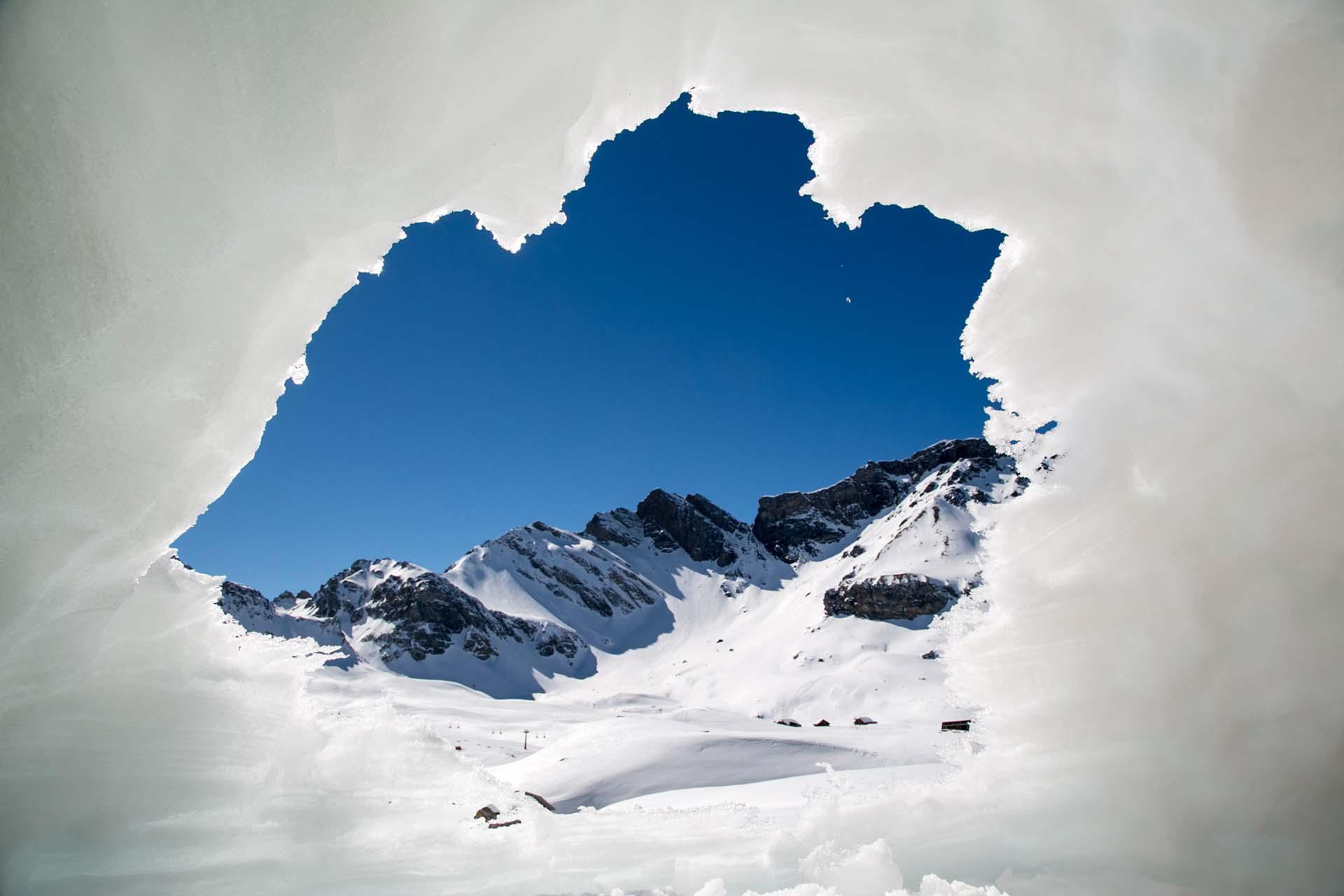 Windschutz Schneehöhle