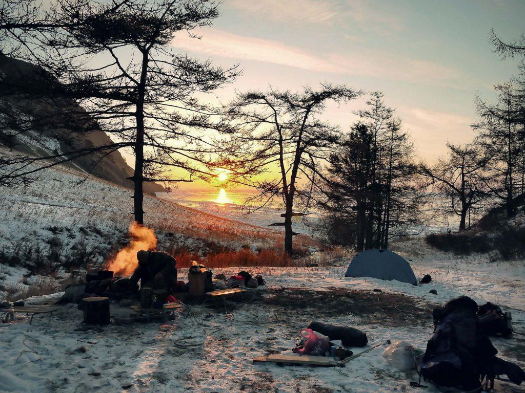 drausen uebernachten im Winter